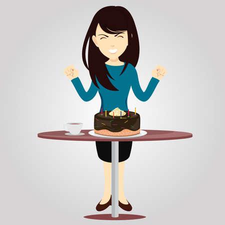 sprinkle: Happy birthday Illustration