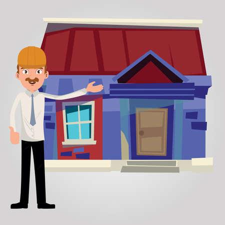 House builder Illustration