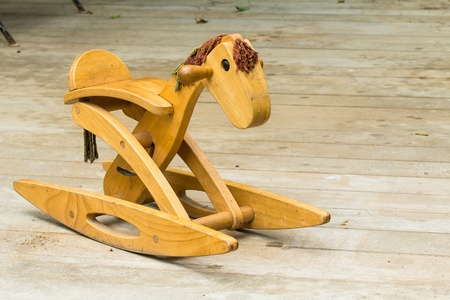 rocking horse on the floor  photo