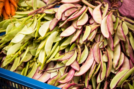String beans in basket Stock Photo - 20885589