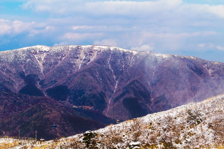 odawara: View of the high mountain in japan  Climate during winter  Stock Photo