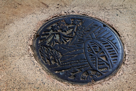 fragment manhole cover in japan
