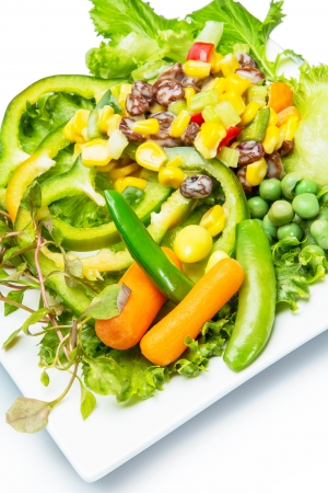 coral bell: Salad with mixed vegetables  Food for diet  Stock Photo