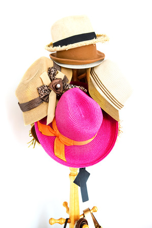 colorful hat on a rack photo