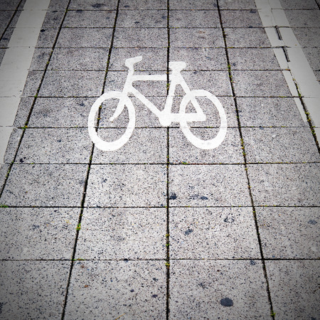 Bicycle road sign  photo