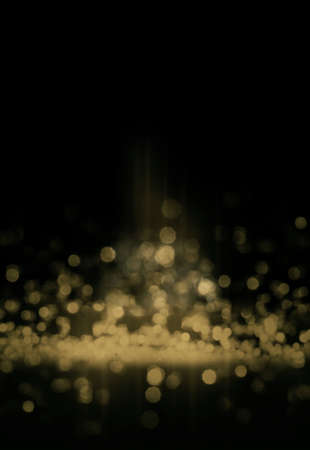 descend: Abstract background with bokeh defocused lights and gold. Stock Photo