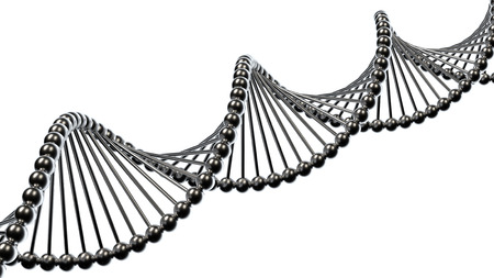 looping: DNA molecule on white isolated background Stock Photo