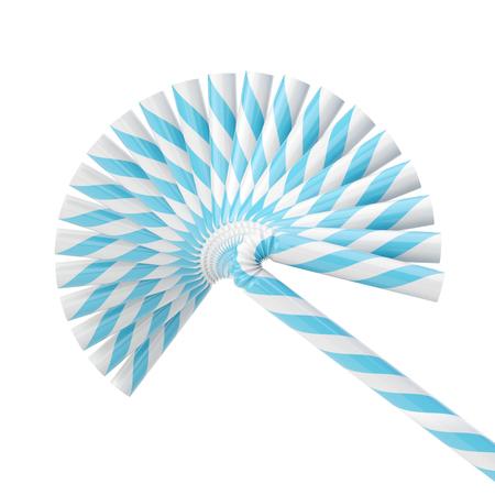 Set of drinking straws isolated on white Reklamní fotografie