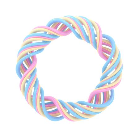 Shiny candy isolated on white background