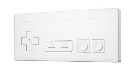 Retro gamepad isolated on white background