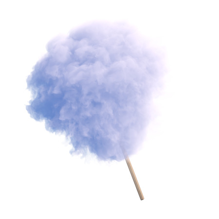 Cotton candy on wooden stick
