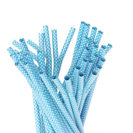 Bunch of drinking straws isolated on white background