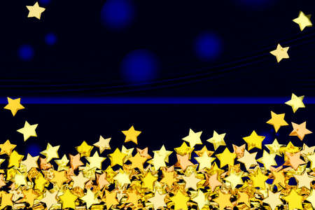 festively: Background with many golden stars, 3d-illustration