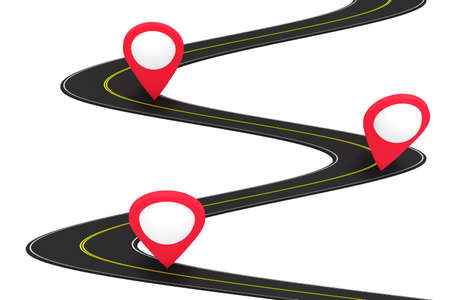 forwarding agency: Road with pin, 3d illustration
