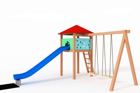 Aire de jeux pour enfants, 3d-Illustration Banque d'images