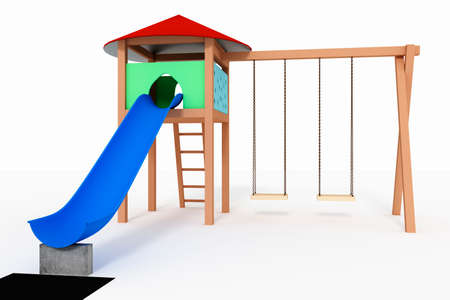 Childrens playground, 3d-Illustration