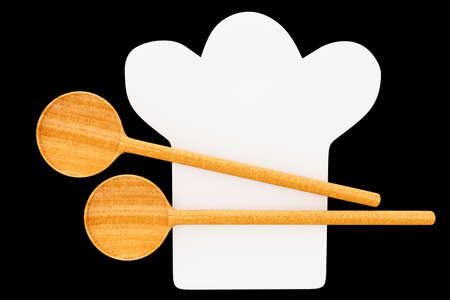 Cooking cap with cooking spoon, 3d-illustration