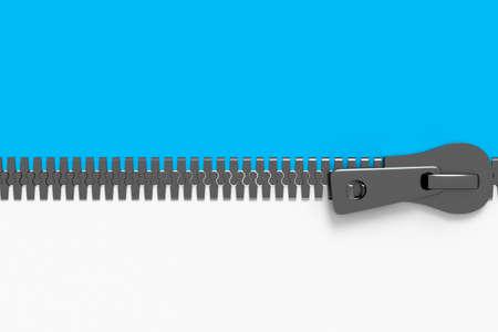 Zipper, 3d illustration