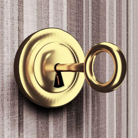Room key is in the lock