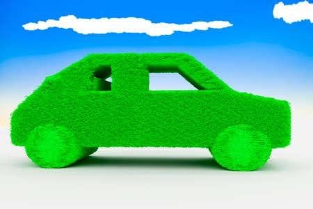 Green car, 3d illustration