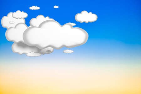 fleecy: Clouds in the sky, 3d illustration