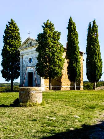 Cappella di Vitaleta en Toscana