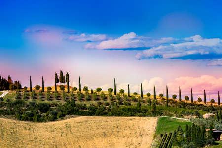 Beautiful landscape in Tuscany