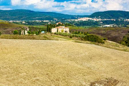 Tuscany Landscape in autumn Stock Photo