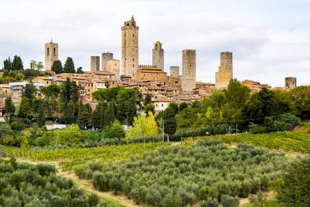 toskana: Touristenort San Gimignano in der Toskana Stock Photo