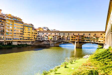 Ponte Vecchio Bridge from Florence in Tuscany Stock Photo
