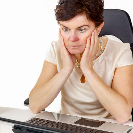 Revised office woman Stock Photo