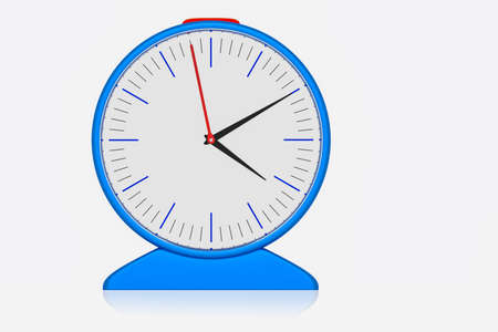 Electrical radio alarm clock, 3D-Illustration