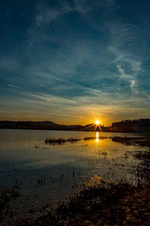 Moody sunrise at the lake