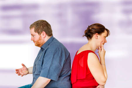 Thoughtful couple