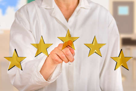 Person pointing with finger at stars  Stock Photo