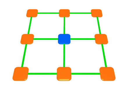 Network, 3d illustration
