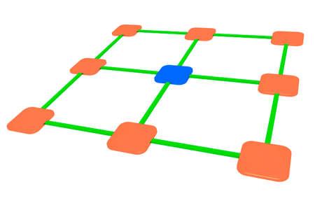 Network, 3d illustration