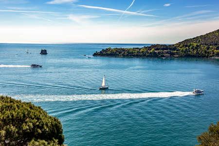 Portovenere on the Mediterranean Sea in Italy Stock Photo