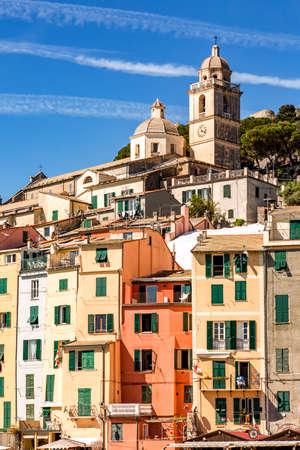 Portovenere on the Ligurian Coast, Mediterranean Sea Stock Photo