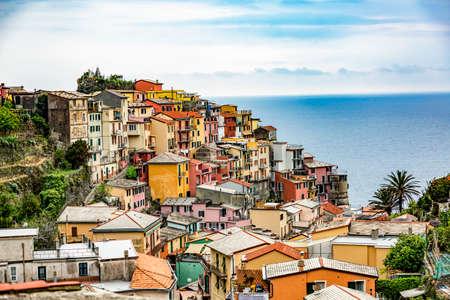 CinqueTerre, world cultural heritage on the Italian Mediterranean coast Stock Photo