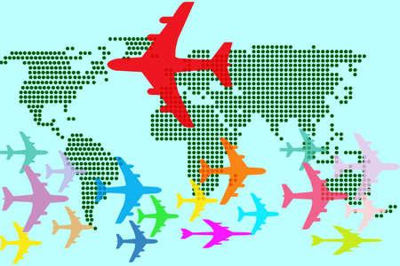 象徴的な航空交通