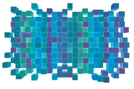 moulder: Abstract background from cubes, 3d illustration