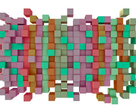 made to order: Abstract background from cubes, 3d illustration