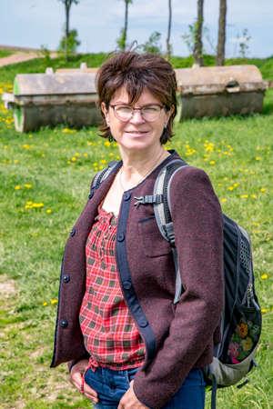 erzgebirge: Woman in nature