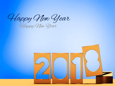 Year 2018 for the year change, 3D illustration Stock Photo