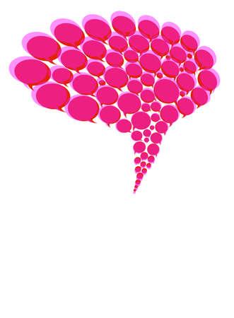 Speech bubbles, 3d illustration Stock Photo
