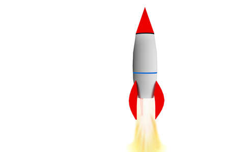 came: Rocket in the climb, 3d illustration