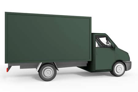 Delivery van as transporter, 3d illustration