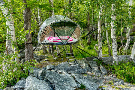 Tent bed in the mountains to stay close to nature