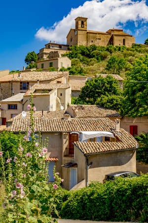 Street idyl in southern France Stock Photo